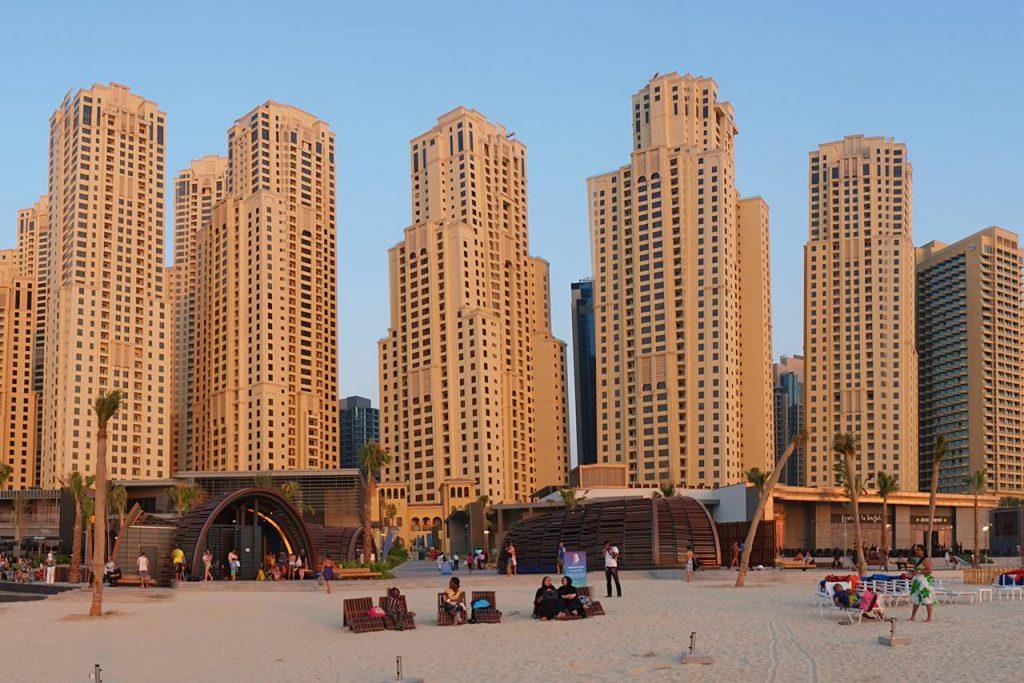 Jumeirah Beach Residence have the best beaches in Dubai